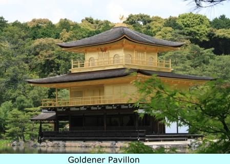 Blick auf den Goldenen Pavillon