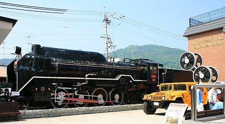 alte Lokomotiven im Museum