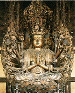 1000-armige Kannon - sitzende Statue