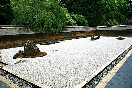 Rundgang durch den Ryoan-ji-Tempel