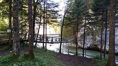 Hängebrücke über die Savinia