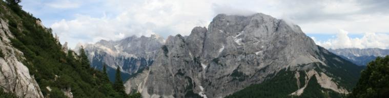 Panorama vom Triglav Nationalpark